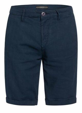 Guess Shorts Myron Mit Leinen blau