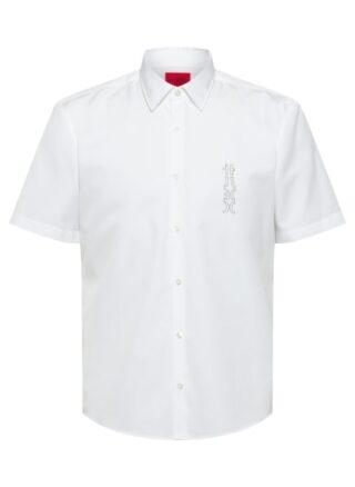 HUGO Ermino Kurzarm-Hemd Herren, Weiß
