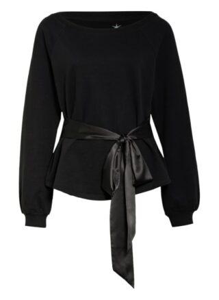 Juvia Sweatshirt Mit Bindegürtel schwarz