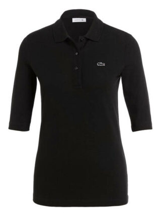 Lacoste Piqué-Poloshirt Mit 3/4-Arm schwarz
