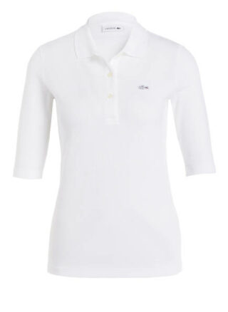 Lacoste Piqué-Poloshirt Mit 3/4-Arm weiss