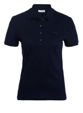 Lacoste Slim Fit Piqué-Poloshirt Damen, Blau