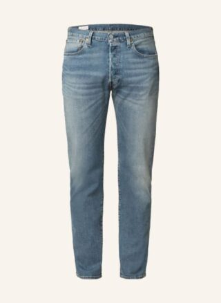 Levis 501 Original Straight Leg Jeans Herren, Blau