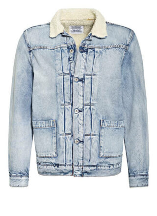 Levi's® Jeansjacke Mit Kunstfellbesatz blau