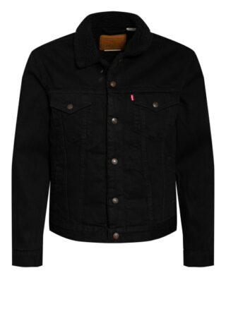 Levi's® Jeansjacke Mit Kunstfellbesatz schwarz