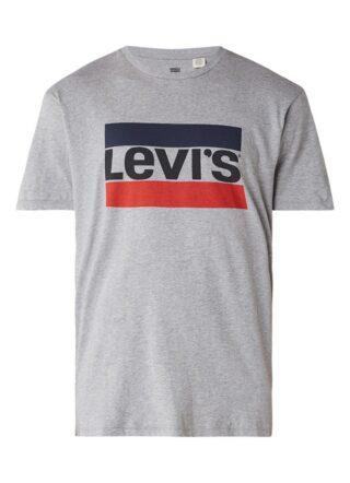 Levis Sport T-Shirt Herren, Logoprint, Grau