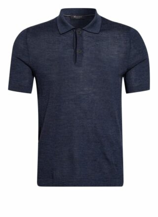 maerz muenchen Strick-Poloshirt Herren, Blau