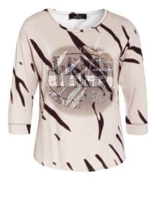 Monari Shirt Mit 3/4-Arm Und Schmucksteinbesatz beige