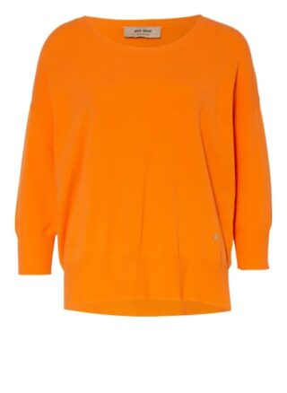 Mos Mosh Oversized-Pullover Pitch Mit 3/4-Arm orange