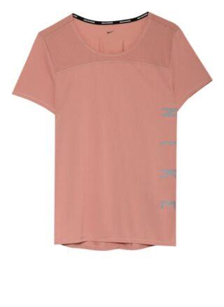 Nike Laufshirt Miler Run Division Mit Mesh-Einsatz pink