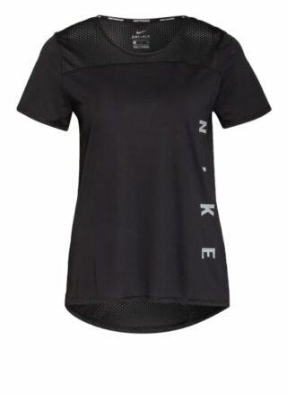 Nike Laufshirt Miler Run Division Mit Mesh-Einsatz schwarz