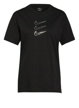 Nike T-Shirt Sportswear Rhinestone Mit Schmucksteinbesatz schwarz