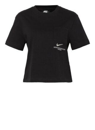 Nike T-Shirt Sportswear Swoosh schwarz