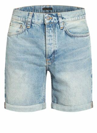 Nudie Jeans Josh Jeans-Shorts Herren, Blau