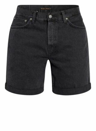 Nudie Jeans Josh Jeans-Shorts Herren, Schwarz