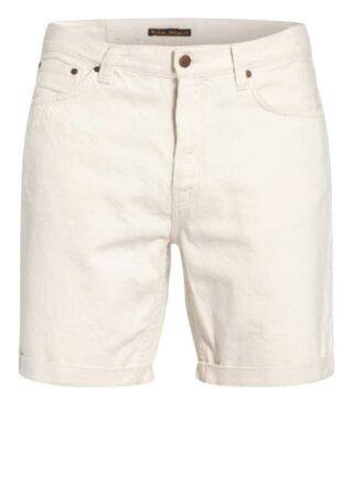 Nudie Jeans Josh Jeans-Shorts Herren, Weiß