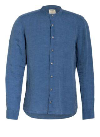 Olymp Level Five Leinenhemd Herren, Blau