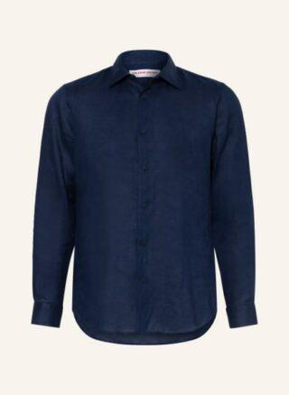 ORLEBAR BROWN Giles Smart Linen Leinenhemd Herren, Blau