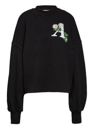 Palm Angels Oversized-Sweatshirt schwarz