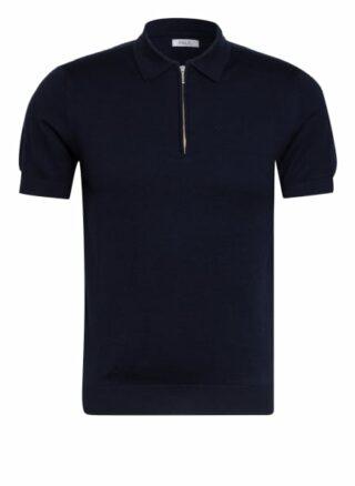 PAUL Strick-Poloshirt Herren, Blau