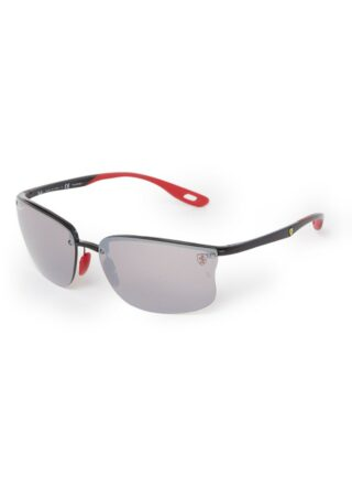 Ray-Ban Scuderia Ferrari RB4322M polarisierte Sonnenbrille Herren, Schwarz