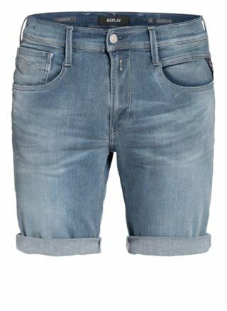 Replay Anbass Hyperflex Bio Jeans-Shorts Herren, Blau