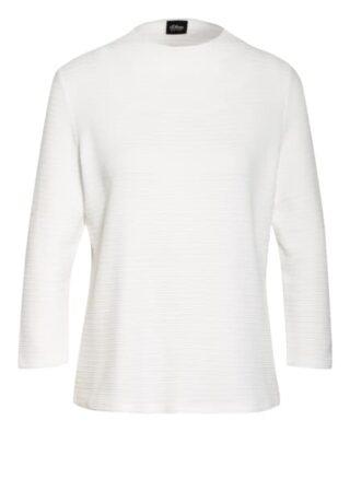 S.Oliver Black Label Shirt Mit 3/4-Arm weiss