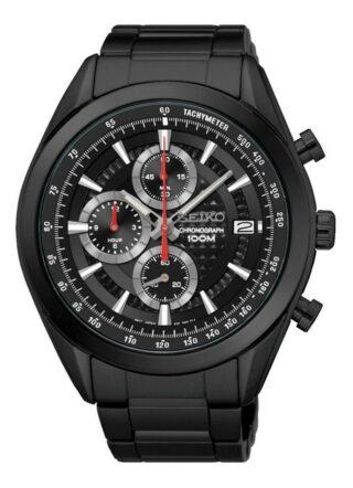 Seiko SSB179P1 Armbanduhr Herren, Schwarz