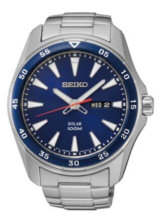 Seiko Solar SNE391P1 Armbanduhr Herren, Silber