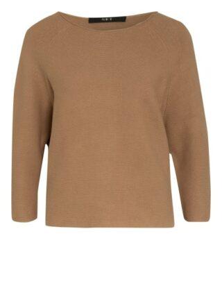 Set Pullover Mit 3/4-Arm braun