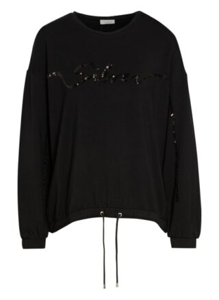 Sportalm Sweatshirt Mit Paillettenbesatz schwarz