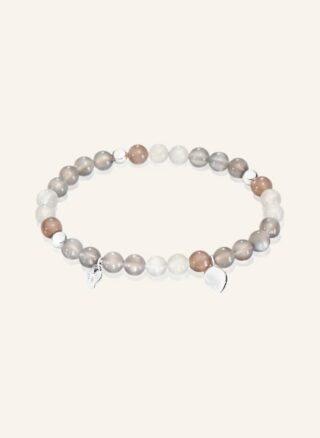 Tamara Comolli Armband India Drop Cashmere Medium Aus 18 Karat Weißgold Und Mondsteinen silber