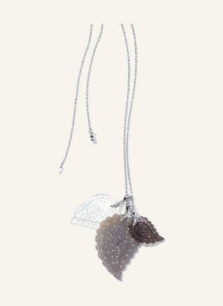 Tamara Comolli Halskette India Aus 18 Karat Weißgold Chalcedon Und Perlmutt silber