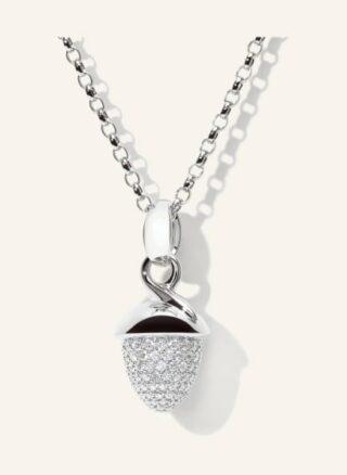 Tamara Comolli Halskette Mikado Bouquet Aus 18 Karat Weißgold Mit Diamant Pavé silber