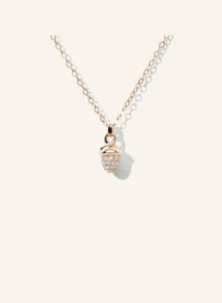 Tamara Comolli Halskette Mymikado Aus 18 Karat Roségold Mit Diamant Pavé rosegold