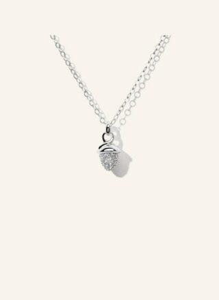Tamara Comolli Halskette Mymikado Aus 18 Karat Weißgold Mit Diamant Pavé silber