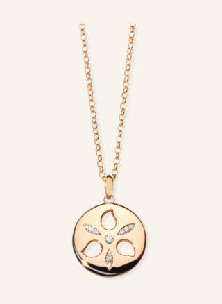 Tamara Comolli Halskette Sand Dollar Aus 18 Karat Roségold Mit Diamanten rosegold