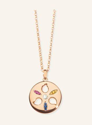 Tamara Comolli Halskette Sand Dollar Aus 18 Karat Roségold Mit Saphiren Und Rubinen rosegold