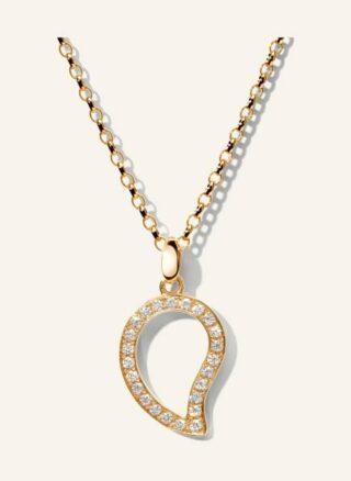 Tamara Comolli Halskette Signature Large Aus 18 Karat Roségold Mit Diamant Pavé rosegold