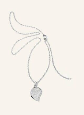 Tamara Comolli Halskette Signature Wave Aus 18 Karat Weißgold Mit Diamant Pavé silber
