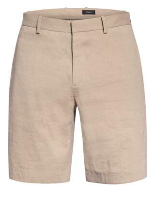 Theory Chino-Shorts Regular Fit Mit Leinen beige