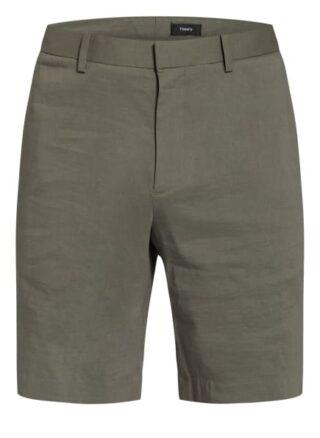 Theory Chino-Shorts Regular Fit Mit Leinen gruen