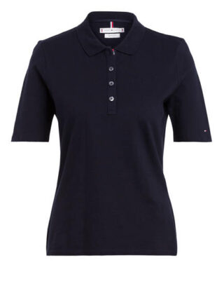 Tommy Hilfiger Essential Piqué-Poloshirt Damen, Blau