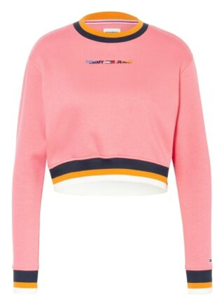 Tommy Jeans Cropped-Sweatshirt pink