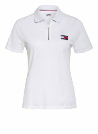 Tommy Jeans Piqué-Poloshirt weiss