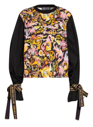 Versace Jeans Couture Sweatshirt Im Materialmix schwarz