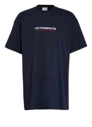 Vetements Oversized-Shirt blau