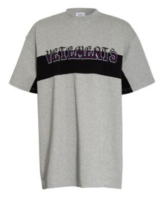 VETEMENTS Oversized-Shirt Herren, Grau