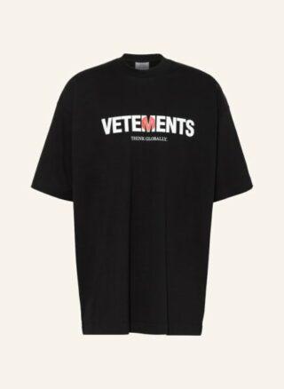VETEMENTS Oversized-Shirt Herren, Schwarz