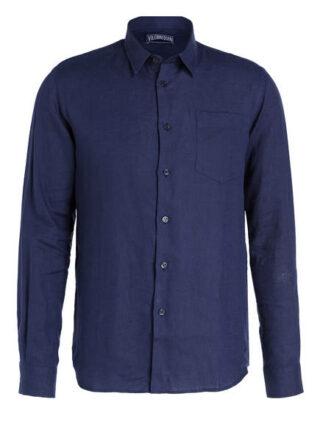 Vilebrequin Leinenhemd Herren, Blau